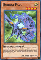 Bujingi Pavo - LVAL-EN083 - Super Rare - 1st Edition on Channel Fireball