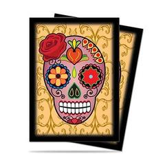 84137 - Ultra PRO Dia De Los Muertos Pink Skull Sleeves (50 ct.) on Channel Fireball