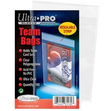 Team Bags Resealable Sleeves (100ct)