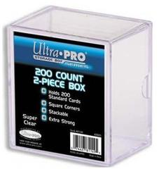 2-Piece 200 Count Clear Card Storage Box