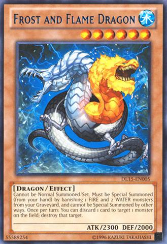 Frost and Flame Dragon - Blue - DL15-EN005 - Rare - Unlimited Edition