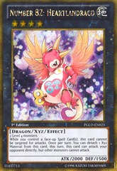Number 82: Heartlandraco - PGLD-EN025 - Gold Secret Rare - 1st Edition