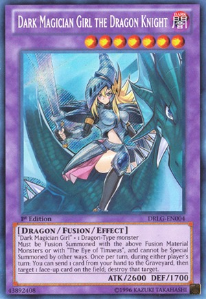 Dark Magician Girl the Dragon Knight - DRLG-EN004 - Secret Rare - 1st Edition