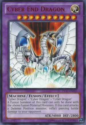 Cyber End Dragon - Blue - DL17-EN010 - Rare - Unlimited Edition