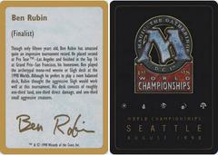 Biography - Ben Rubin - 1998
