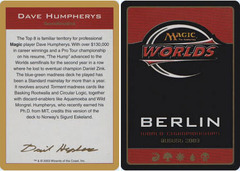 Biography - Dave Humpherys - 2003