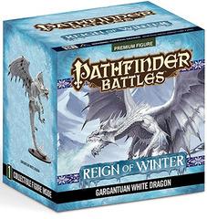 Pathfinder Battles Reign of Winter Gargantuan White Dragon