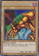 Right Arm of the Forbidden One - LCYW-EN304 - Secret Rare - Unlimited Edition