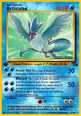 Articuno - 17/62 - Rare - 1999-2000 Wizards Base Set Copyright