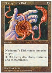 Nevinyrral's Disk on Channel Fireball