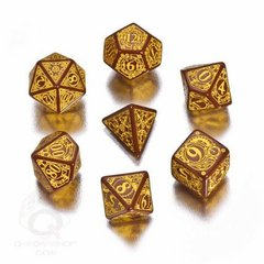 Brown and Yellow Steampunk 7 Die Set