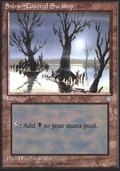 Snow-Covered Swamp on Channel Fireball