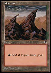 Mountain (Two spiky mountains pointing right) on Channel Fireball