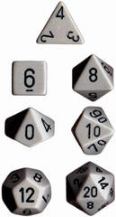 Grey w/Black Opaque Polyhedral 7-die Set