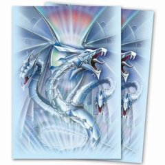 Artists' Series Monte Moore Blue Diamond Dragon Deck Protector Sleeves for Yu-Gi-Oh Cards Pack of 50