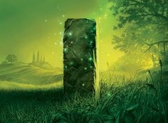 Alara Reborn Wildfield Borderpost Playmat
