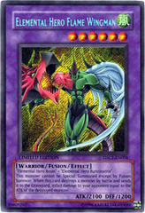 Elemental Hero Flame Wingman - EHC1-EN004 - Secret Rare - Limited Edition