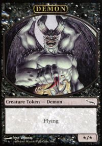 Demon Token - Mirrodin (Player Rewards)