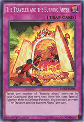 The Traveler and the Burning Abyss - DUEA-EN086 - Super Rare - 1st Edition