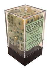 12 Green w/dark green 16mm D6 Dice Block - CHX27609