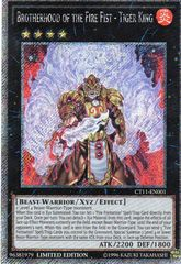Brotherhood of the Fire Fist - Tiger King - CT11-EN001 - Platinum Secret Rare - Limited Edition