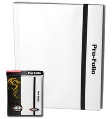 Pro-Folio BCW White 9-Pocket 360 Card Album w/Sideload Pages