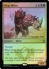 Siege Rhino (Khans of Tarkir Prerelease) on Channel Fireball