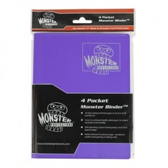 4 Pocket Trading Card Album – Matte Purple