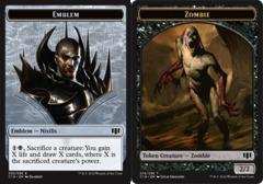 Emblem - Nixilis // Zombie Token - Black