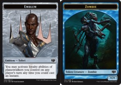 Emblem - Teferi // Zombie Token - Blue