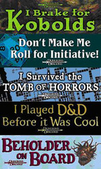 D&D Bumper Stickers