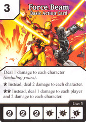 Basic Action Card - Force Beam (Die & Card Combo)