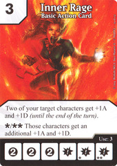 Basic Action Card - Inner Rage (Die & Card Combo)