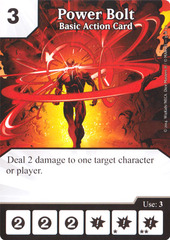 Basic Action Card - Power Bolt (Die & Card Combo)