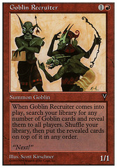 Goblin Recruiter on Channel Fireball