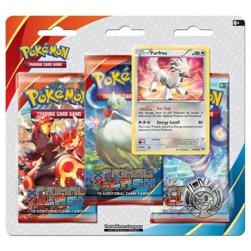 XY Primal Clash Booster Pack Blister (3 Packs)