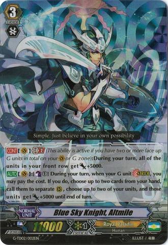Blue Sky Knight, Altmile - G-TD02/002EN (RRR)