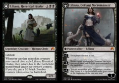 Liliana, Heretical Healer // Liliana, Defiant Necromancer - Foil