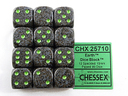 12 Earth Speckled 16mm D6 Dice Set - CHX25710