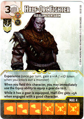 Half-Orc Fighter - Paragon Zhentarim (Card Only)