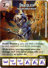 Dracolich - Paragon Undead Dragon (Die & Card Combo)