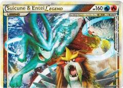Suicune and Entei LEGEND (Top) - 94/95 - Rare Holo Legend