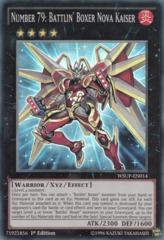 Number 79: Battlin' Boxer Nova Kaiser - WSUP-EN014 - Super Rare - 1st Edition