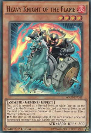 Heavy Knight of the Flame - WSUP-EN047 - Super Rare - 1st Edition
