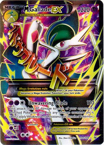 Mega Gallade Ex 100 108 Full Art Ultra Rare Pokemon
