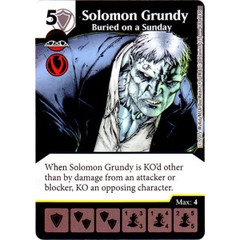 Solomon Grundy - Buried on a Sunday (Card Only)