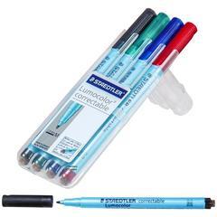 Staedtler Lumocolor Correctable Dry Erase Pen 1.0 mm Medium Point 4-Color Set