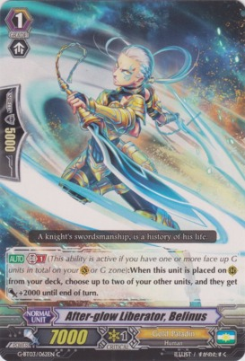 After-glow Liberator, Belinus - G-BT03/062EN - C