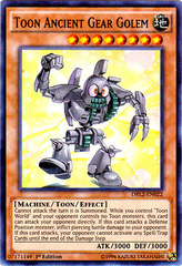 Toon Ancient Gear Golem - DRL2-EN022 - Super Rare - 1st Edition on Channel Fireball