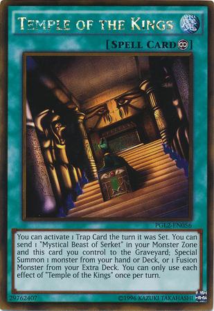 Gold Rare Mystical Beast of Serket PGL2-EN032 Yugioh 1st Edition